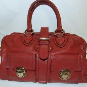 MARC JACOBS Wine Color Venetia Satchel Handbag